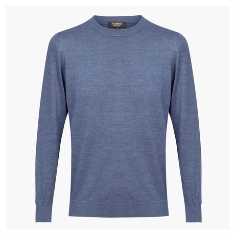 Theodore Woolen Crewneck Sweater // Blue (L)