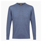 Theodore Woolen Crewneck Sweater // Blue (2XL)