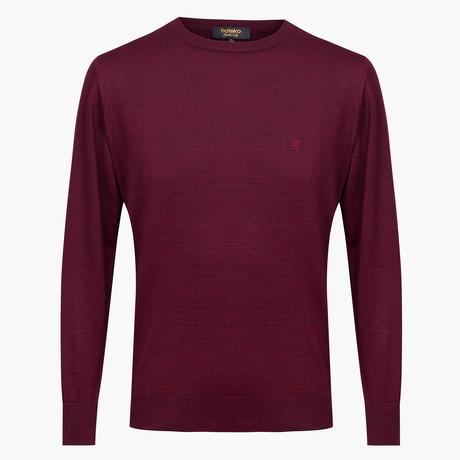 Theodore Woolen Crewneck Sweater // Maroon (L)