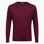 Theodore Woolen Crewneck Sweater // Maroon (4XL)