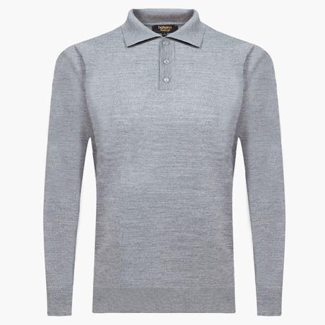 Wilson Woolen Polo Sweater // Gray (L)