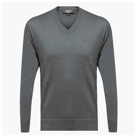 Anthony Woolen V-Neck Sweater // Gray (L)