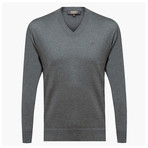 Anthony Woolen V-Neck Sweater // Gray (M)