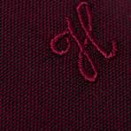 Jonathon Oxford Slim Fit Shirt // Maroon (L)