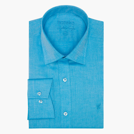Jonathon Oxford Slim Fit Shirt // Blue (L)