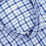 Gardener Checkered Slim Fit Shirt // Blue (M)