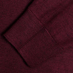 Isaiah Woolen Light Mock Neck Sweater // Maroon (XL)