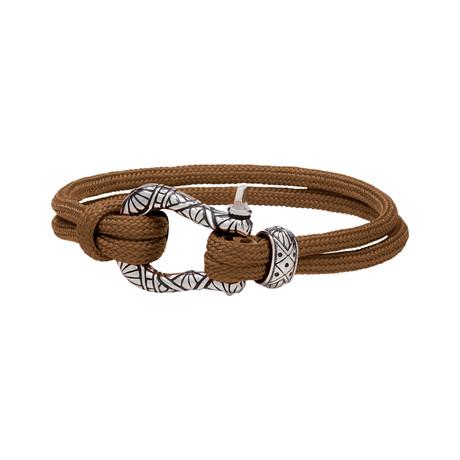 """U-Lock Bracelet // Brown (7"""")"""