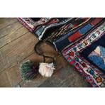 """Shiraz Saddle Bag // Hand Knoted Circa 1973 // 4'3""""L x 2'3""""W"""