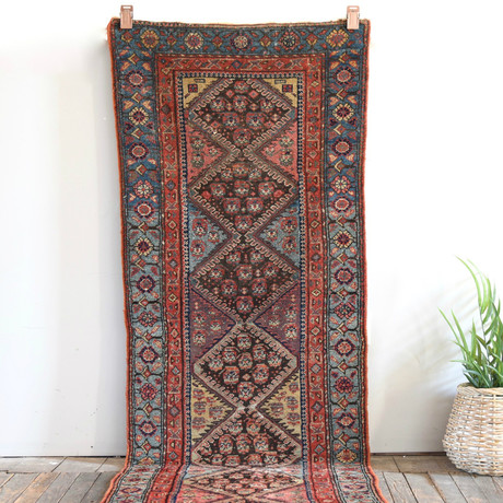 """Caucasus Runner // Hand Knotted Circa 1910 // 8'0""""L x 2'9""""W"""