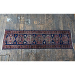 "Caucasus Runner // Hand Knotted Circa 1940 // 9'1""L x 2'7""W"