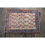"Signed Turkish Rug // Hand Knotted Circa 1960 // 6'5""L x 4'8""W"