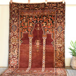 "Turkish Prayer Rug // Hand Knotted Circa 1940 // 7'2""L x 4'2""W"