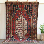"Mazlaghan // Hand Knotted Circa 1930 // 6'1""L x 4'1W"