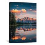 "Two Jack Lake - Banff - Canada // Cuma Cevik (12""W x 18""H x 0.75""D)"