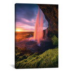 "Seljalandsfoss Waterfall - Iceland (12""W x 18""H x 0.75""D)"