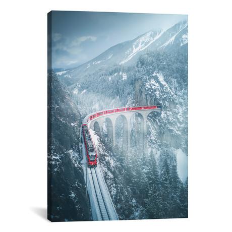 """Landwasser Viaduct - Switzerland (12""""W x 18""""H x 0.75""""D)"""