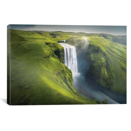 """Skogafoss Waterfall - Iceland (18""""W x 12""""H x 0.75""""D)"""