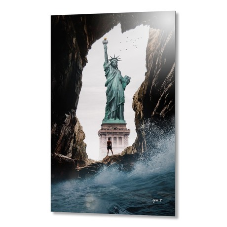 "Wave On Freedom // Aluminum Print (16""W x 20""H x 1.5""D)"
