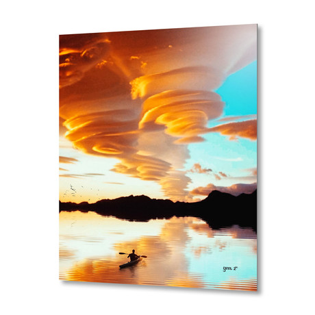"""Floating On The Clouds // Aluminum Print (16""""W x 16""""H x 1.5""""D)"""