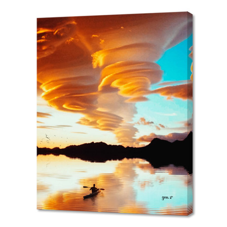 """Floating On The Clouds // Stretched Canvas (16""""W x 16""""H x 1.5""""D)"""