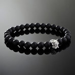 Spectre // Silver x Matte Onyx Bracelet (S)