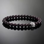 Spectre // Silver x Garnet Bracelet (L)