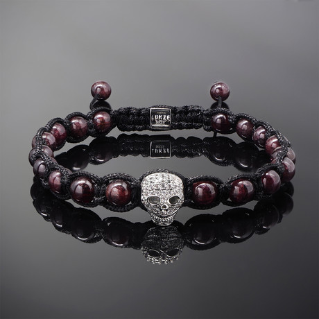 Wraith // Silver x Garnet Bracelet (S)