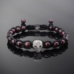 Wraith // Silver x Garnet Bracelet (L)