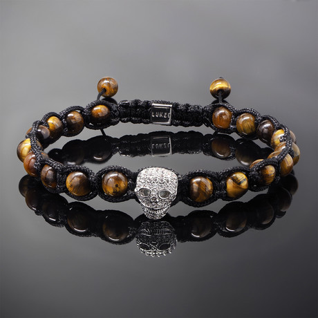 Wraith // Silver x Yellow Tiger's Eye Bracelet (S)