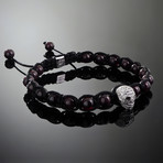 Wraith // Silver x Garnet Bracelet (M)