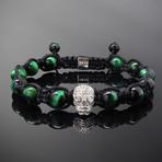 Revenant // Silver x Green Tiger's Eye Bracelet (M-L)
