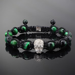 Revenant // Silver x Green Tiger's Eye Bracelet (S-M)