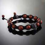 Revenant // Black x Red Jasper Bracelet (M-L)