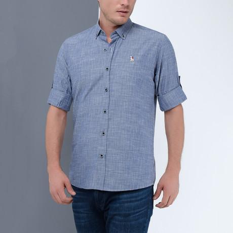 Joseph Button-Up Shirt // Dark Blue (Small)