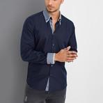 Isaac Button-Up Shirt // Dark Blue (Small)