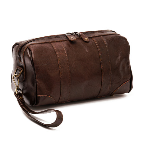 Rasage Toiletry Kit // Antique Brown