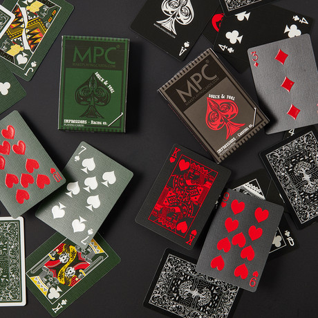 Impressions Playing Cards // Cardinal + Racing Edition