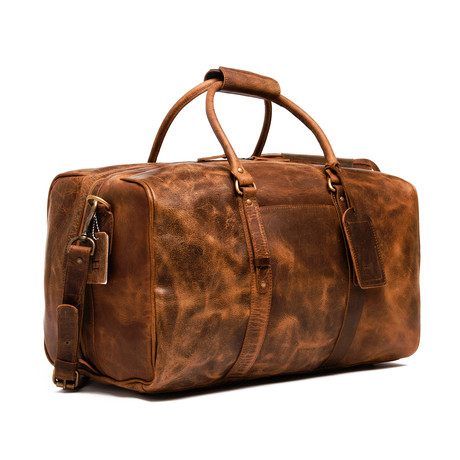 "Leather Luggage Bag 20"" // Distressed Brown"