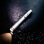Nano Torch XL // Compact Flashlight // Silver Aluminum