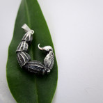 Scorpion Tail Pendant // Solid Sterling Silver