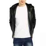 Skimmer Leather Jacket // Black (2XL)
