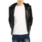 Skimmer Leather Jacket // Black (XS)