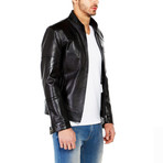 Raven Leather Jacket // Black (L)