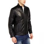 Egret Leather Jacket // Black (XL)