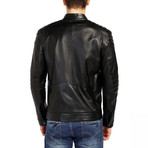 Hummingbird Leather Jacket // Black (XL)