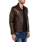 Dove Leather Jacket // Brown (3XL)