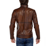 Oriole Leather Jacket // Tobacco (XL)
