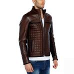 Heron Leather Jacket // Brown (2XL)
