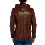Pintail Leather Jacket // Tobacco (S)